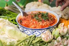 Nam prik ong, Thai northern style chili paste Royalty Free Stock Photo