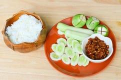 Nam Prik Pla Yang (Kruidige Geroosterde vissen) Royalty-vrije Stock Afbeelding