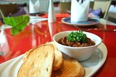 Nam prik tab kai thai food. Eat with bread Royalty Free Stock Images
