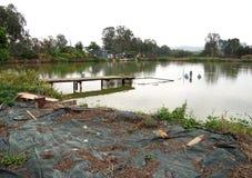 Nam Sang Wai Fishing Village. Nam Sang Wai Wetland and Fishing Pond in Hong Kong China Stock Photo