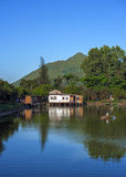 Nam Sang Wai, Hong Kong. One Fine Day in Nam Sang Wai stock photo