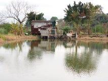 Nam Sang Wai Fishing Village. Nam Sang Wai Wetland and Fishing Pond in Hong Kong China Royalty Free Stock Photos