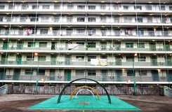 Nam Shan Estate. Public housing and playground in Hong Kong China royalty free stock photo