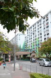 Nam Shan Public Housing Estate em Hong Kong Imagens de Stock Royalty Free