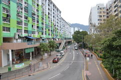Nam Shan Public Housing Estate in Hong Kong Stockfotografie