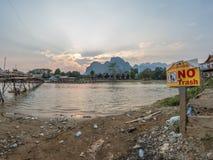 Nam Song River Laos royaltyfri bild
