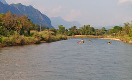 Nam Song River. Vang Vieng. Laos Stock Image