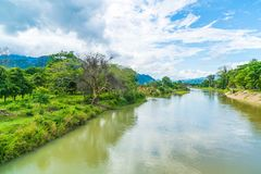 Nam Song River at Vang Vieng, Laos Royalty Free Stock Photography