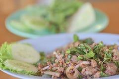 Nam Tok mix salad Stock Photos