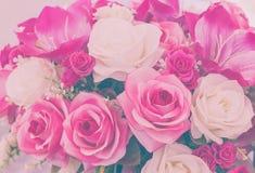 Nam valse bloem met de hand gemaakte het naaien bloemen uitstekende toon toe Royalty-vrije Stock Fotografie