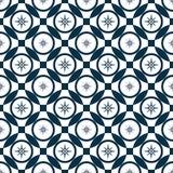 Nam van wind toe Abstract naadloos patroon met het snijden van cirkels stock illustratie
