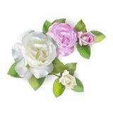 Nam wit en roze boeket toe Royalty-vrije Stock Afbeelding