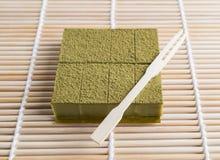 Nama Czekoladowy Matcha, zielona herbata Obrazy Royalty Free