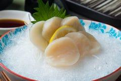 Free Nama Hotate Fresh Scallop Shashimi Sushi Stock Image - 117844491