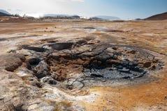 Namafjall fumaroles in Iceland Stock Image