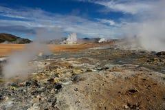 Namafjall Geothermal Area, Hverir, Iceland Royalty Free Stock Image