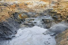 Namafjall geothermal area, Iceland. Northern Europe royalty free stock images