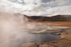 Namafjall geothermal area in Iceland royalty free stock image