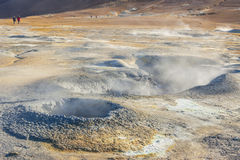 Namafjall hot springs - Myvatn area, Iceland. Stock Images
