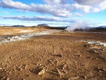 Namafjall - Hverir, noordelijk IJsland Stock Fotografie