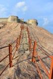 Namakkal, Tamilnadu - Индия - 17-ое октября 2018: Лестница форта Namakkal стоковые изображения