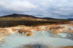 Namaskard en Islandia, área da alta temperatura Fotografía de archivo libre de regalías
