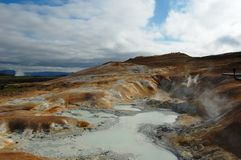 Namaskard in Island, Hochtemperaturbereich Stockbilder