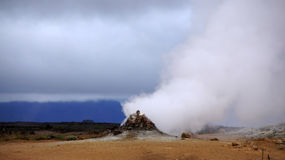 Namaskard steaming fumerole Royalty Free Stock Images