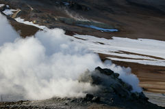 Namaskard Sulfur Field Steam Outlet Stock Photography