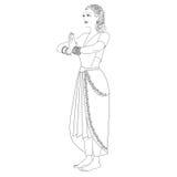 Namaste妇女印地安人 免版税库存照片