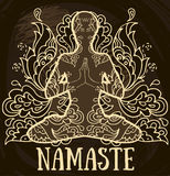 Namaste baner Arkivfoton