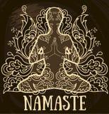 Namaste banner Stock Photos