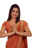 Namaste (cumprimento) Imagens de Stock Royalty Free