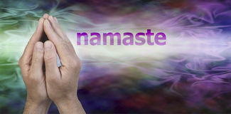 Namaste Greeting Website Header