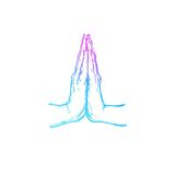 Namaste Indische mudra India yoga Vectorhand getrokken affiche, malplaatje, druk vector illustratie