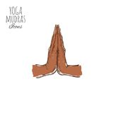 Namaste Indisches mudra spirituality Indien yoga Gezeichnetes Plakat des Vektors Hand, stock abbildung
