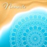 Namaste mandala banner Royalty Free Stock Images