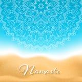 Namaste mandala banner Stock Photo