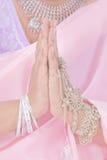 Namaste in pastelkleur Royalty-vrije Stock Foto