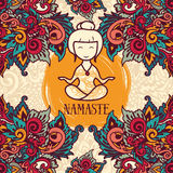 Namaste poster Royalty Free Stock Photography