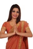 Namaste (saludo) Imágenes de archivo libres de regalías