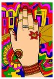 Namaste symbolmeditation Royaltyfria Foton