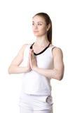Namaste, tres cuartos visión Imágenes de archivo libres de regalías
