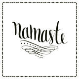 Namaste vector lettering. Calligraphic Indian text Stock Images