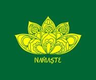 Namaste Yoga Logo Illustration Art stock illustration