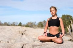 Namaste yoga position Royalty Free Stock Image