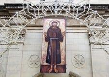 Namaszczenie święty Francis Assisi, kościół święty Francis, Sorrento Zdjęcie Stock