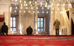 Namaz in Mosque royalty free stock photography