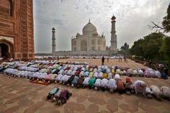 Namaz at taj mahal during eid