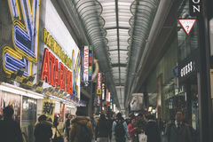 Namba arcade shopping street view. Osaka, Japan - December 21, 2015 : Namba arcade shopping street view Royalty Free Stock Photography